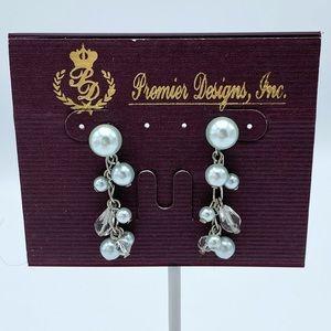 Premier Designs Sweet Dreams Faux Pearl Dangle Ear